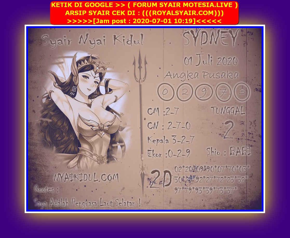 Kode syair Sydney Rabu 1 Juli 2020 193