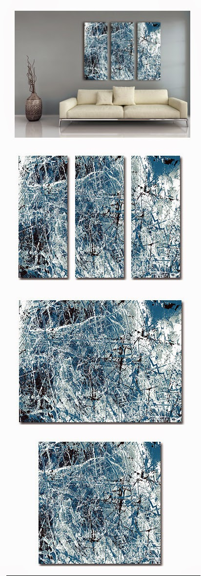blue, abstract, industrial, wall art, canvas art, modern, contemporary, buy online,