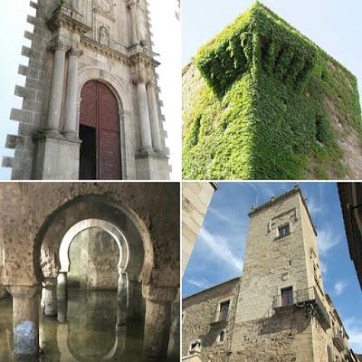 Iglesia de san Francisco Javier; Torre de la de Sande; Aljibe; Cáceres; Extremadura; Vía de la Plata