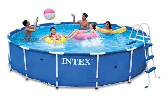 shopping add shop 457x122 cm intex metal frame pool set 54946. Black Bedroom Furniture Sets. Home Design Ideas