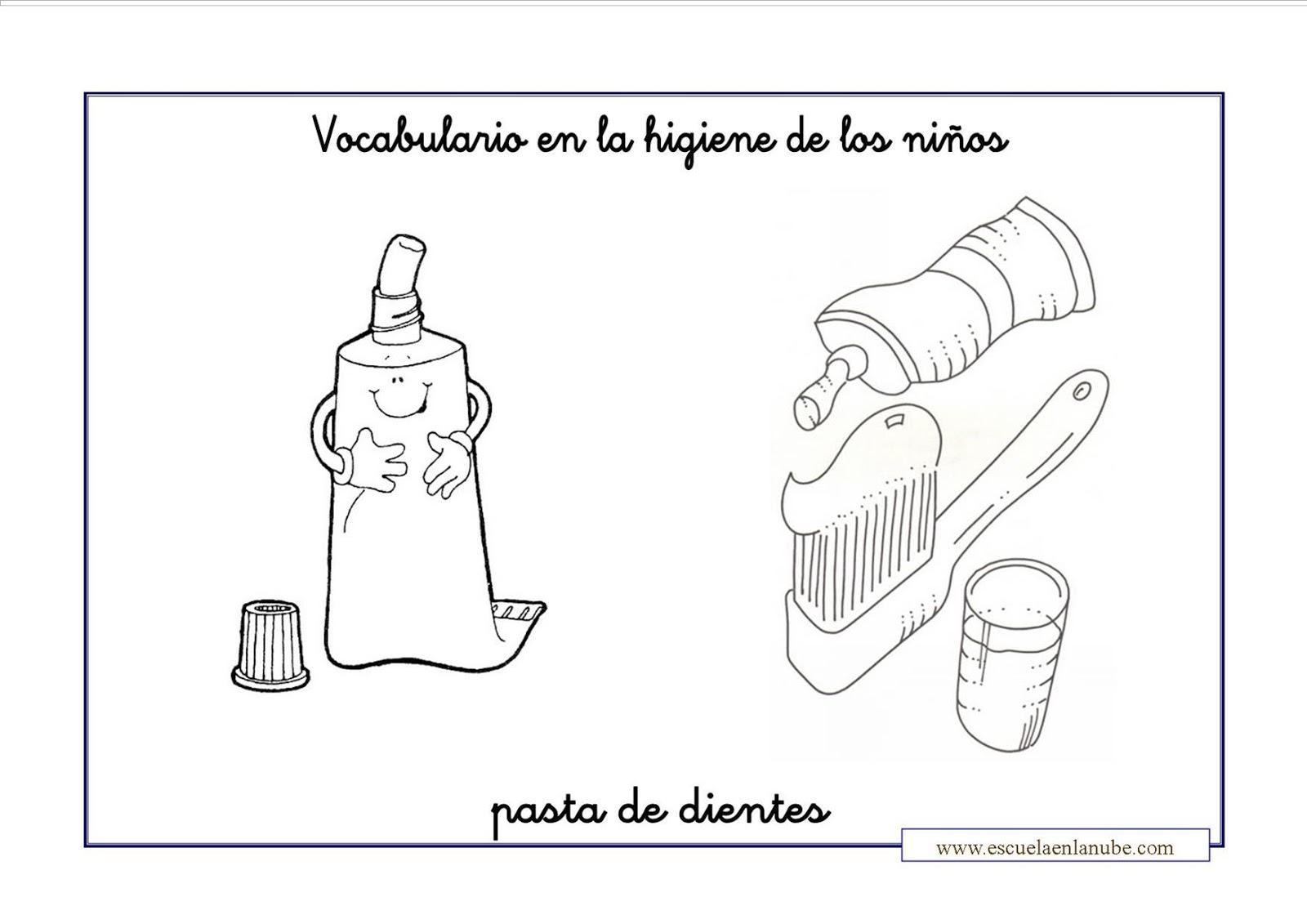 PARA COLOREAR: Higiene personal para colorear