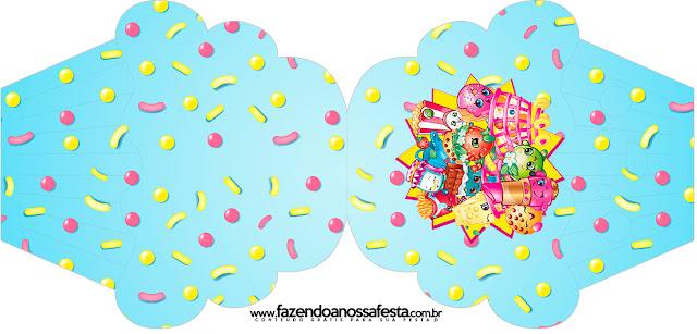 Tarjeta con forma de cupcake de Shopkins.