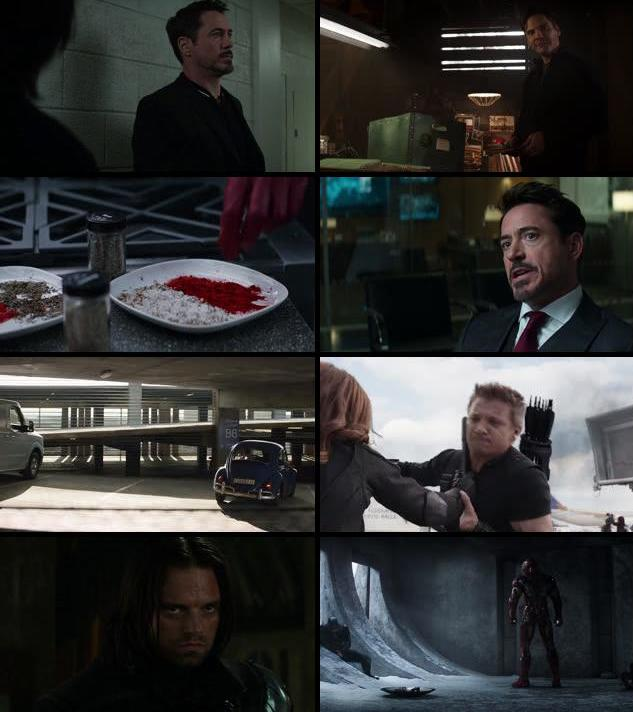Captain America Civil War 2016 Dual Audio Hindi 480p BRRip