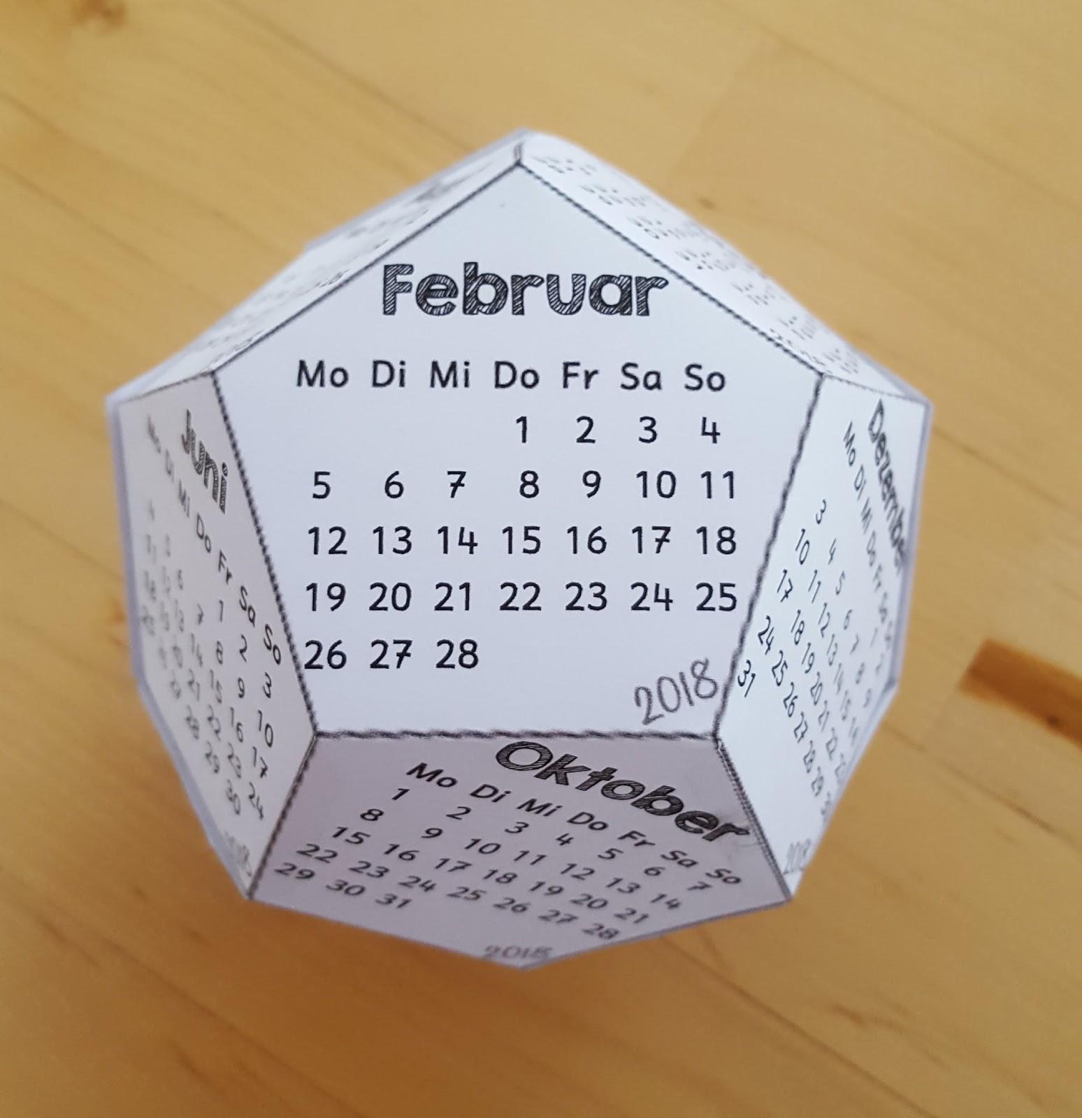 Grundschultante: Würfelkalender