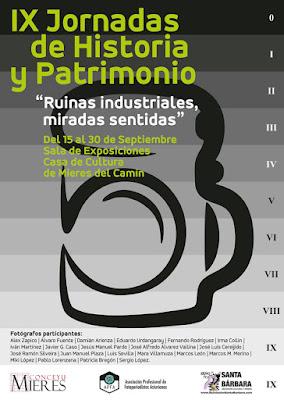 Cartel de las IX Jornadas de Historia y Patrimonio en Mieres