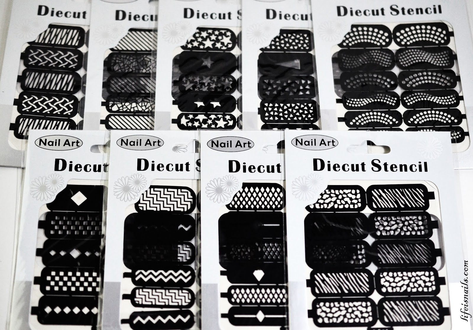 Bundle monster nail art stencils review nail art lifeisnails these nail art stencils are sold in a 9 sheetsset which costs 1299 you get two options to choose from that is geometric shapes or sunny weather fun prinsesfo Choice Image