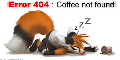 Lustiger Fehler 404 - Wenn kein Kaffee da ist