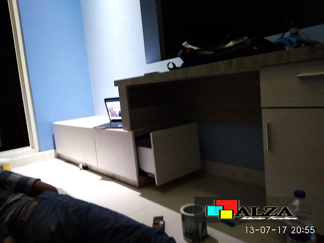 Progress interior kamar modern