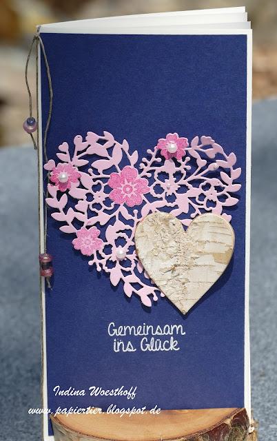 Hochzeit | Stampin' Up! | papiertier Indina | Wedding | Blühendes Herz | Boho Style