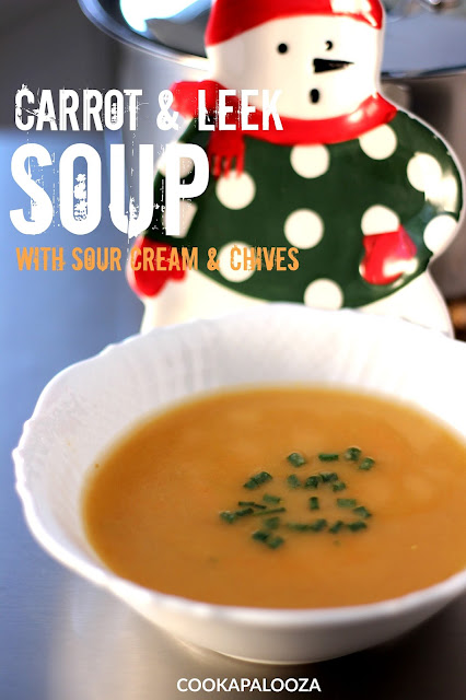 Carrot and Leek Soup with Sour Cream and Chives | Cookapalooza