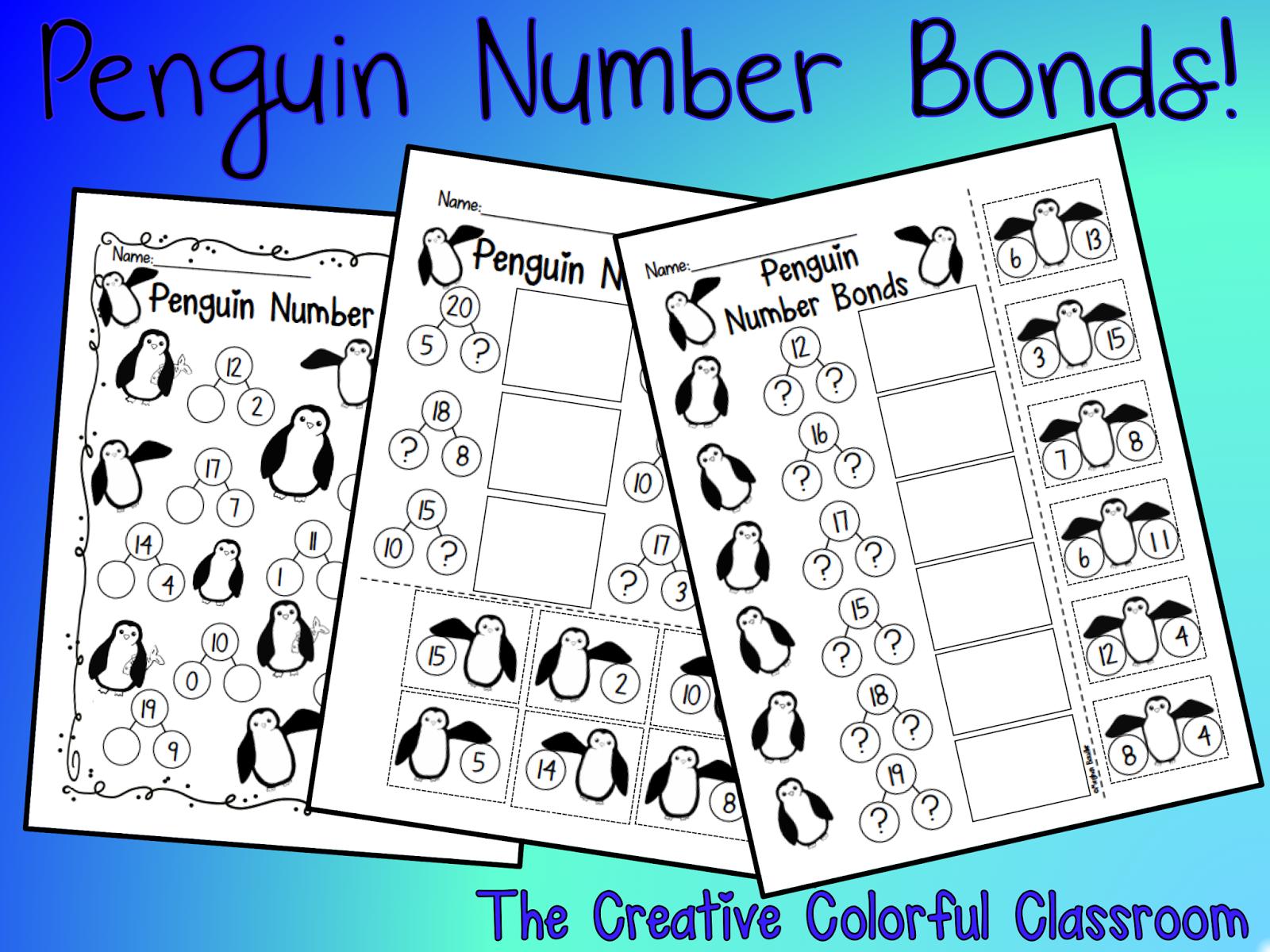 The Creative Colorful Classroom Penguin Math
