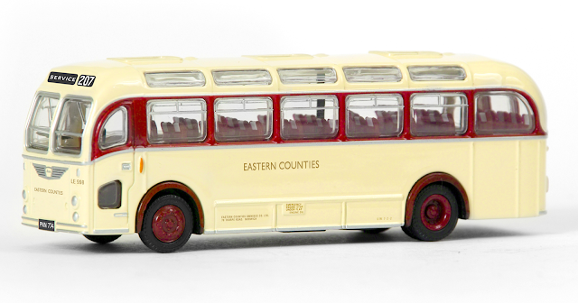 16231 - Bristol LS Coach - Eastern Counties  - This coach bodied LS, registered PNN 774, first entered service with Mansfield District, subsequently moving on to join the Eastern Counties fleet. Numbered LE998, our model is depicting this coach whilst it was operating on service 207. RRP £34.50