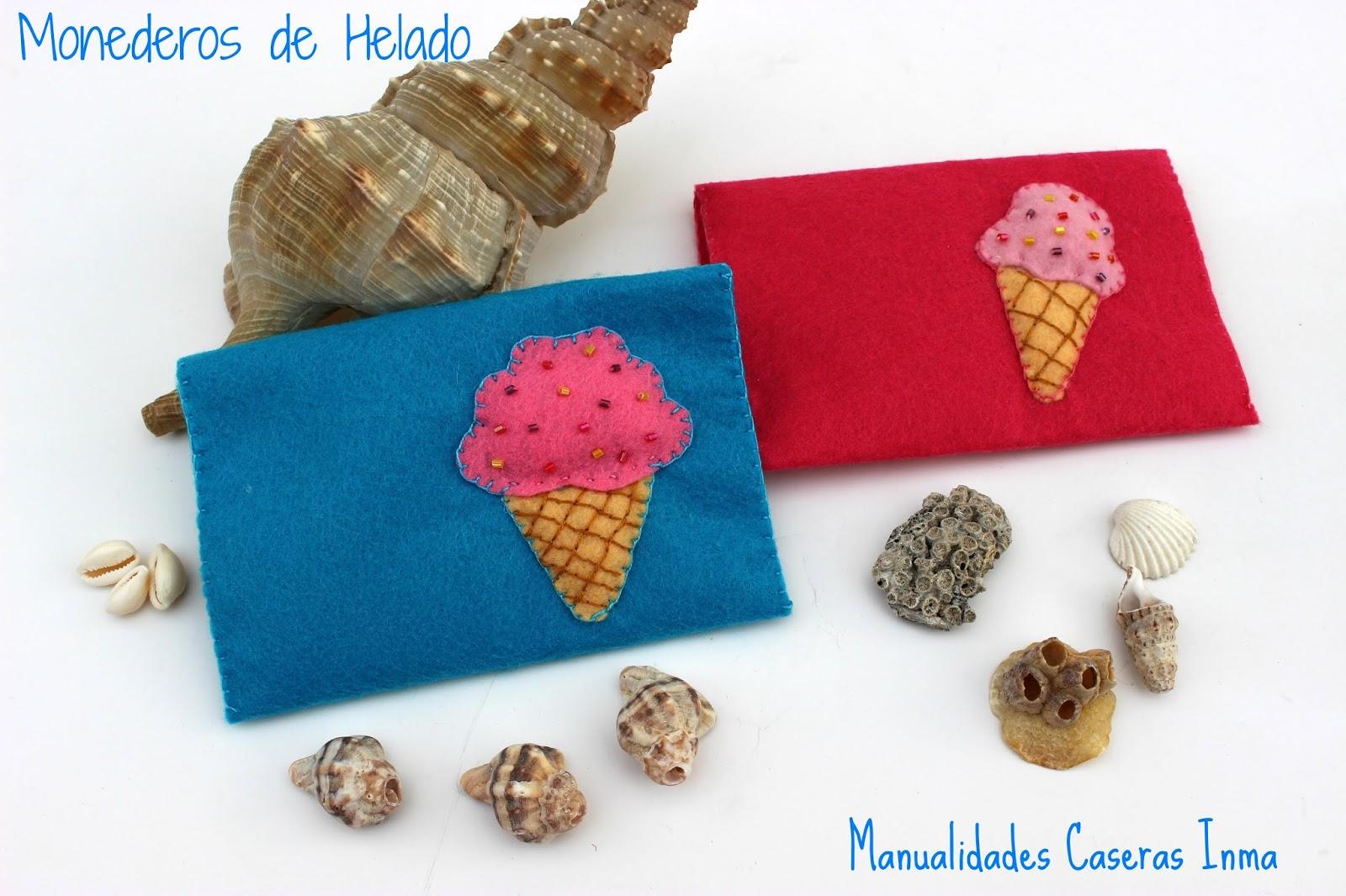 Monedero helado de fieltro manualidades caseras inma for Manualidades caseras para regalar