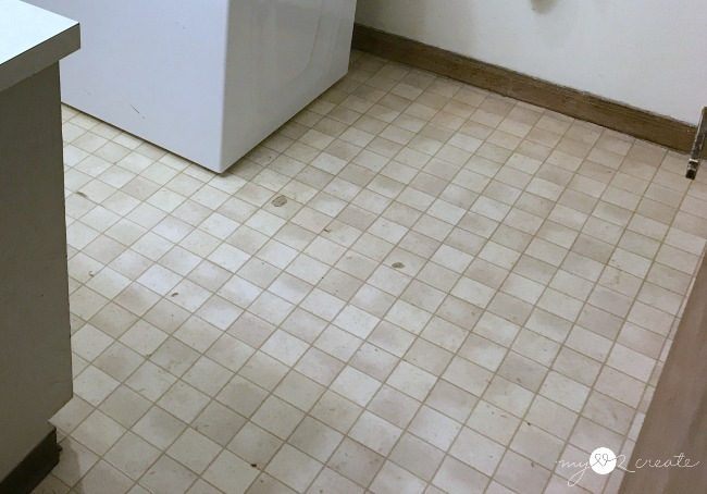 old vinyl bathroom flooring