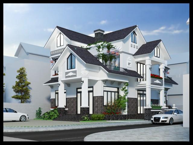 Thiết kế biệt thự 2 tầng đẹp | Mẫu biệt thự hiện đại