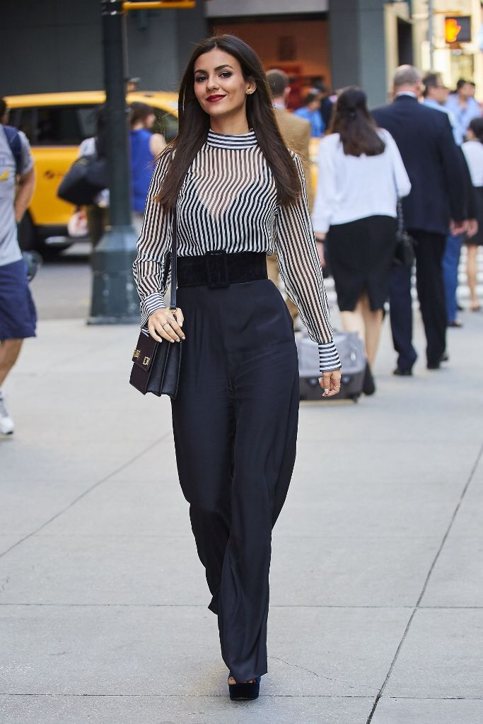 Victoria Justice street style out fashion in New York City