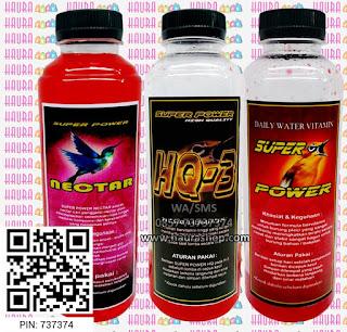 Super Power  adalah suplemen dosis tinggi bermultivitamin yang digunakan untuk burung lomba. Super Power High Quality (HQ-3) mampu meningkatkan birahi dengan cepat dan stabil sehingga mampu mendongkrak kinerja burung saat lomba secara maksimal.