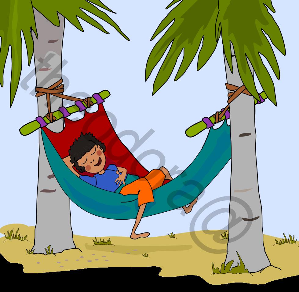 Une Bonne Sieste Sur Un Hamac Sous Le Soleil De Locéan Indien