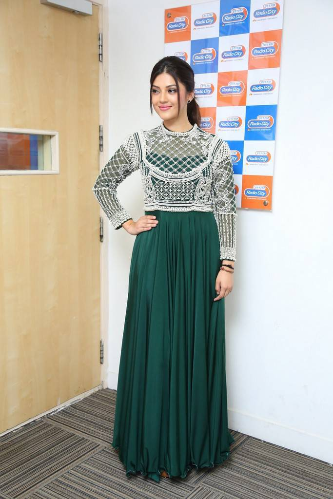 Mehreen Kaur At Mahanubhavudu Song Launch At Radio City Pics