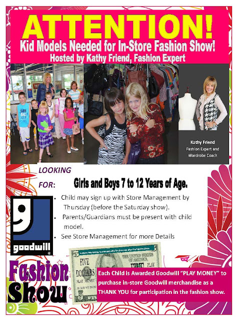 Goodwill Tips: Kids Model Search!