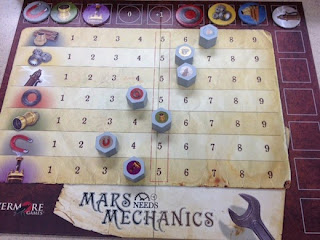 market board for Mars Needs Mechanics game