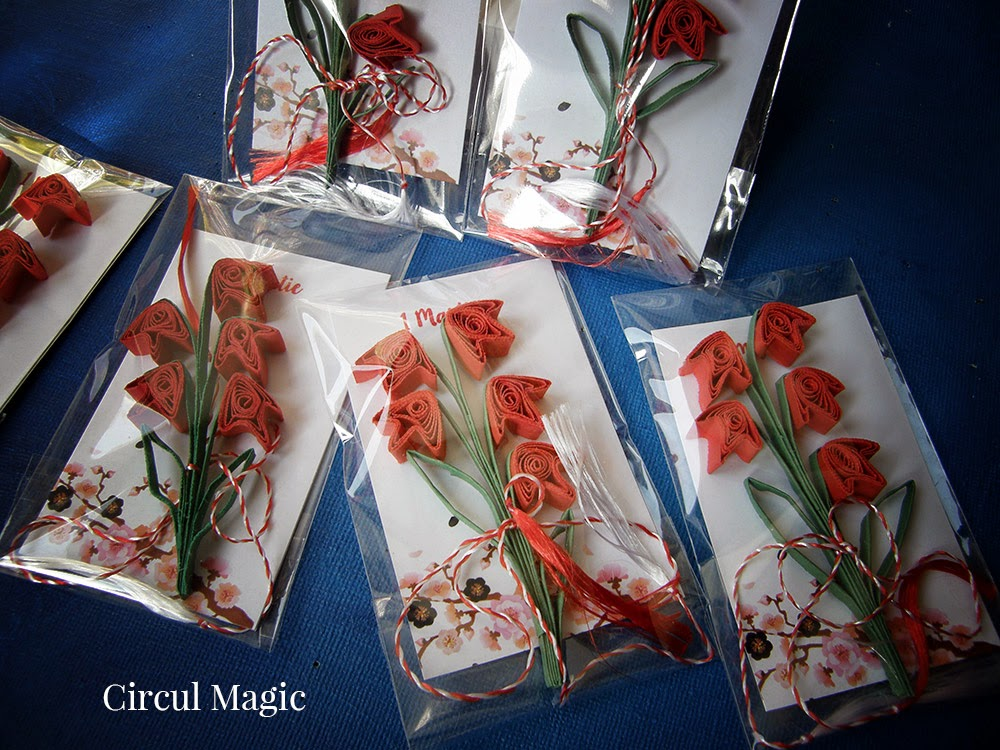 Martisoare 2015 Flori de Hartie Circul Magic Quilling Blog