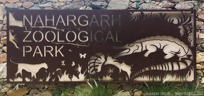 At the Main Entrance of  Nahargarh Zoological Park or Jaipur Zoo, Jaipur, Rajasthan.