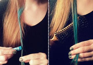 ideas de chicas o pintar tu pelo con tiza