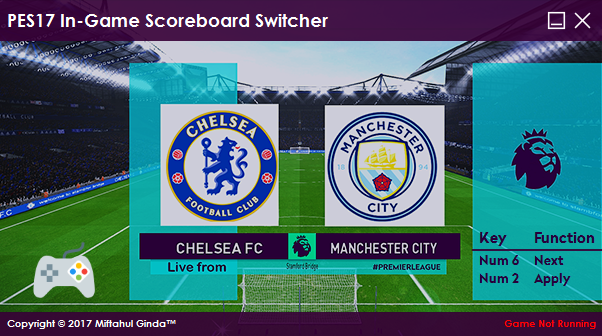 PES 2017 Scoreboard Switcher dari Ginda01