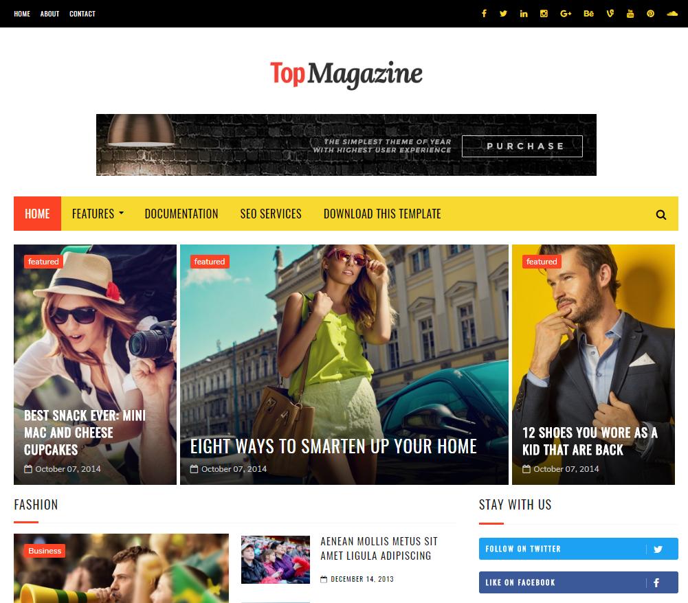 Top Magazine Blogger Templates