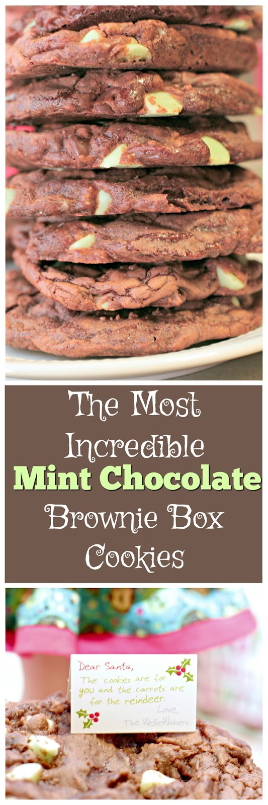 Brownie Box cookie recipe, mint chocolate brownie box cookies, how to make cookies from brownie mix, WellieWisher outfits, American Girl WellieWisher accessories