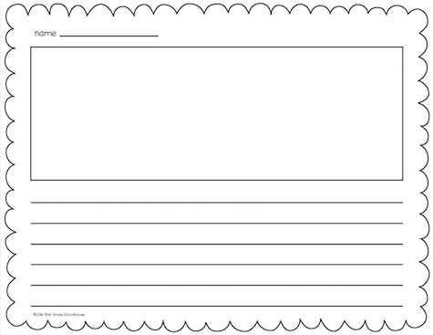 writing paper with picture box and border Printable writing paper for school and home with colored, lined, blank and bordered writing paper choose from a variety of themes such as animals, holiday and seasonal.
