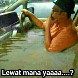 Gambar Dp Bbm Banjir mau jalan lewat mana