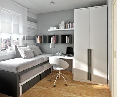 Fotos de dormitorios peque os para j venes dormitorios - Como amueblar un dormitorio pequeno ...