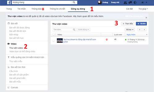 Cach live stream facebook thong ke tuong tac