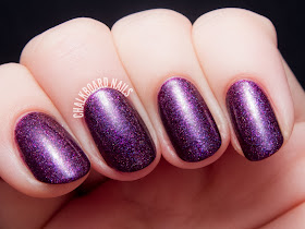 Glam Polish Fruit of the Poisonous Tree via @chalkboardnails