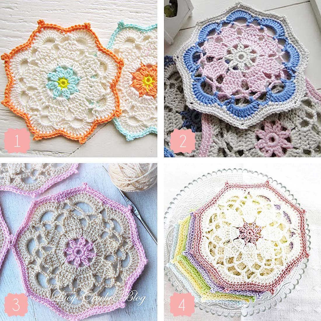 Anabelia craft design: Vintage crochet coasters: your finished projects