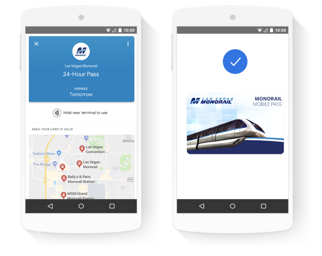 transit and prepaid tickets or passes on Google Pay
