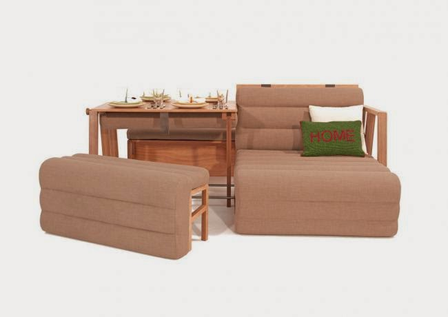 Marzua un mueble que se convierte en mesa sof y cama for Mueble que se convierte en cama