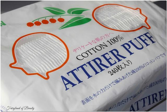 Бегущей строкой: Японские хлопковые паффы Suzuran Attirer Puff.