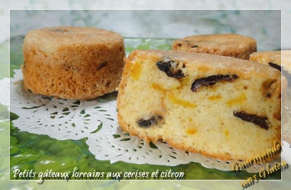Petits gâteaux lorrains aux cerises et zestes de citron
