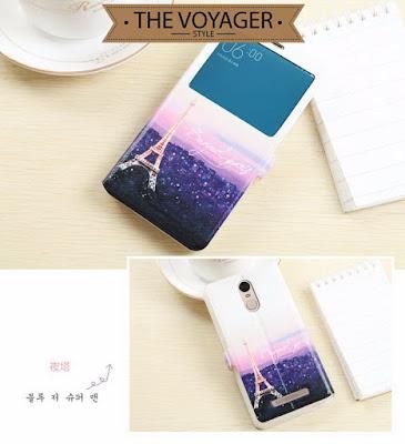 Casing flip case cover lucu unik vintage Xiaomi Redmi Note 3 Pro leather case import original luxury mewah elegan premium