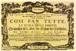 Cosí fan tutte, ópera bufa de Mozart