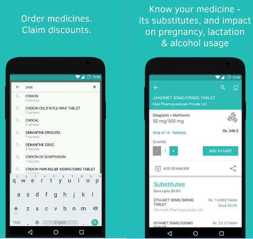 1mg- One of the best Medicine App for Android devices