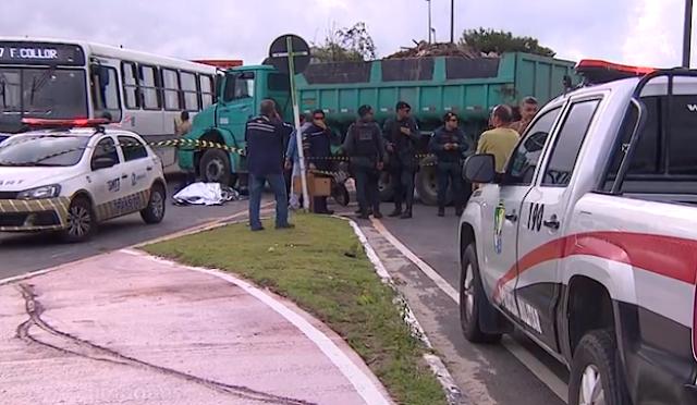 Motociclista morre após colisão com caçamba na ponto do Rio do Sal