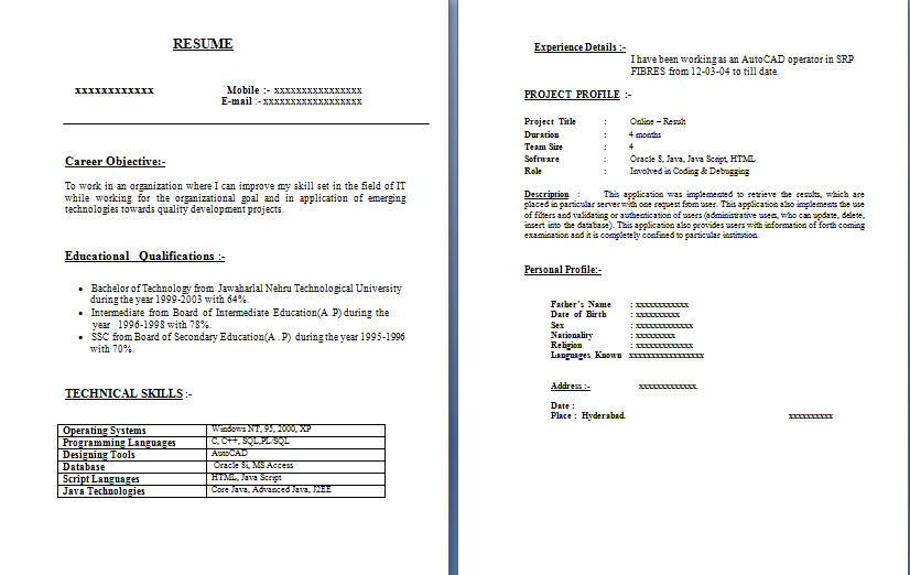 Soft Copy Resume Copies Template Solid1 1