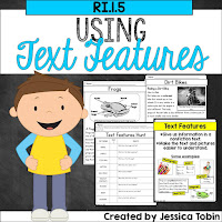 Text Features Activities and Lesson Ideas- hands on learning, reading, videos, and more for learning text features