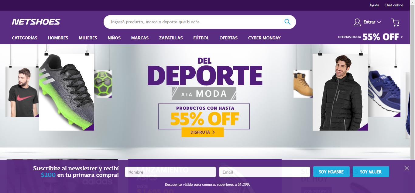 Cyber Monday en Netshoes: $200 gratis