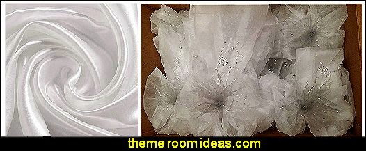 White Gossamer Decorating Fabric for Your Wedding