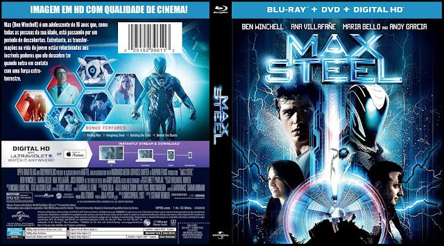 Capa Bluray + DVD Max Steel [Exclusiva